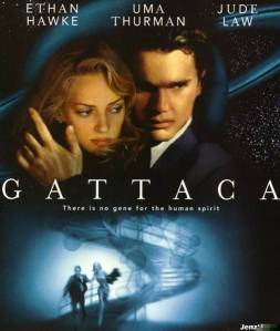 Gattaca Movie promo pic - Uma Thurman and Ethan Hawke