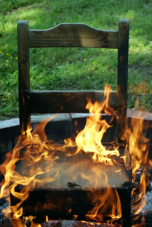 Photo of burning chair